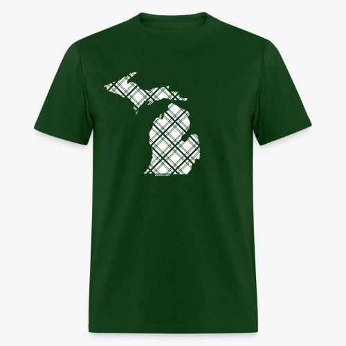 Michigan State Plaid - Men's T-Shirt