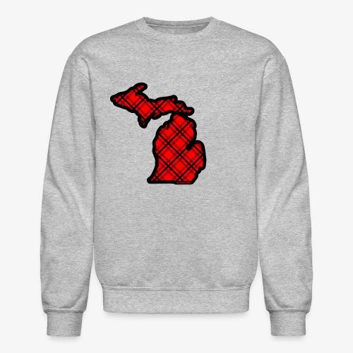 Michigan plaid sweatshirt - Crewneck Sweatshirt