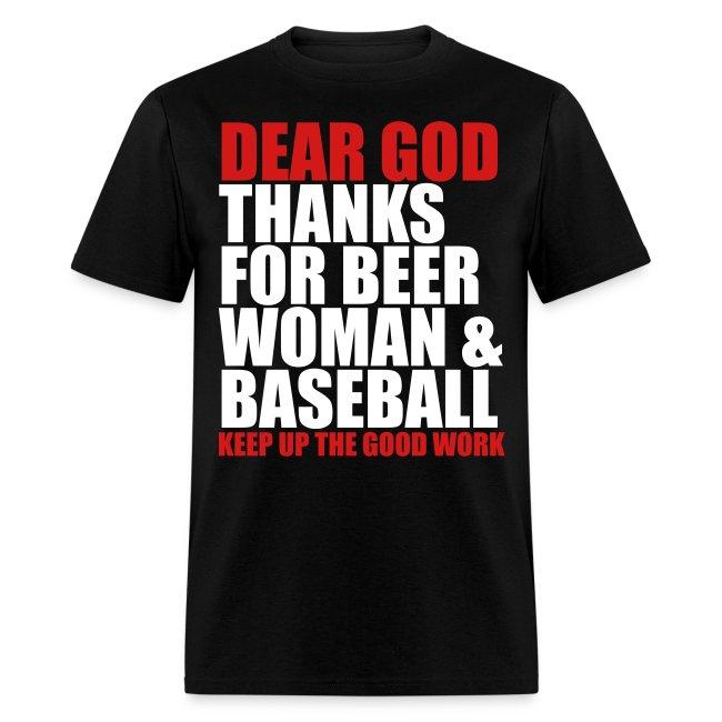 Dear God, Thanks for beer woman & Baseball