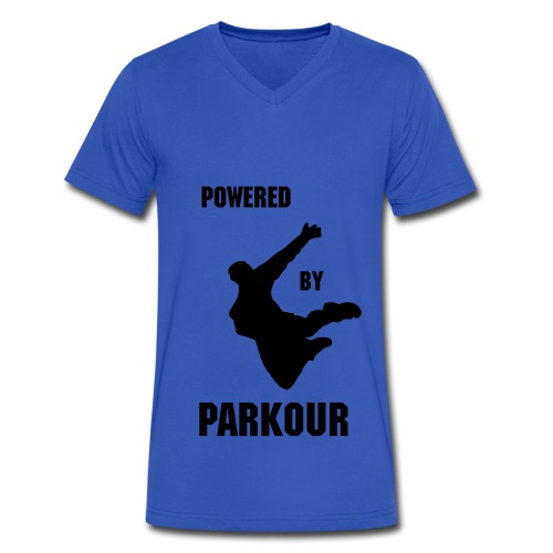 POWERED BY PARKOUR V-NECK  - Men's V-Neck T-Shirt by Canvas