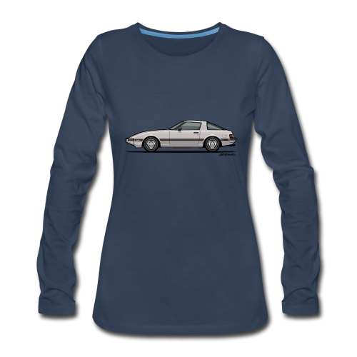 Mazda RX-7 RB Savanna Sunbeam Silver - Women's Premium Long Sleeve T-Shirt