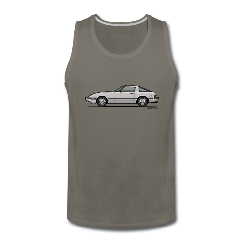 Mazda RX-7 RB Savanna Sunbeam Silver - Men's Premium Tank