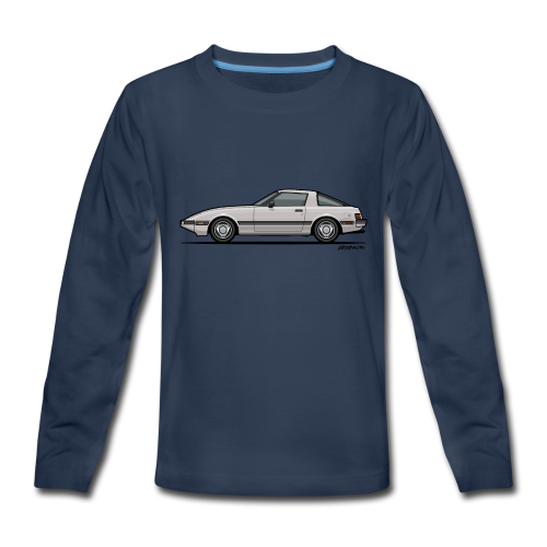 Mazda RX-7 RB Savanna Sunbeam Silver - Kids' Premium Long Sleeve T-Shirt