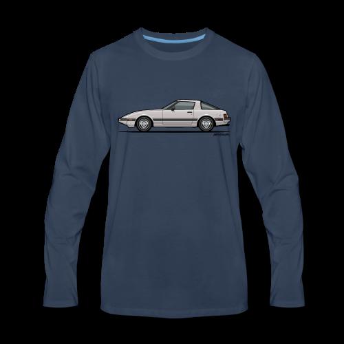 Mazda RX-7 RB Savanna Sunbeam Silver - Men's Premium Long Sleeve T-Shirt