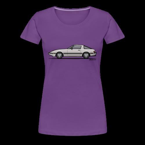 Mazda RX-7 RB Savanna Sunbeam Silver - Women's Premium T-Shirt