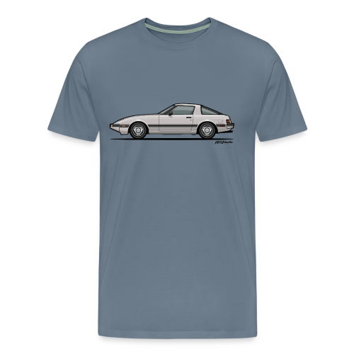 Mazda RX-7 RB Savanna Sunbeam Silver - Men's Premium T-Shirt