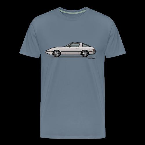 Mazda RX-7 RB Savanna Sunbeam Silver - Men's Premium T-Shirt