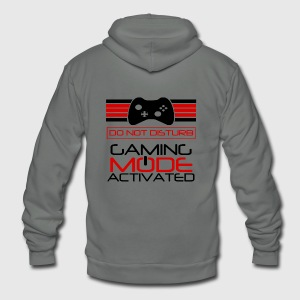 Gaming Mode Activated Hoodies - Unisex Fleece Zip Hoodie by American Apparel