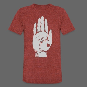 Heart in Hand - Unisex Tri-Blend T-Shirt by American Apparel