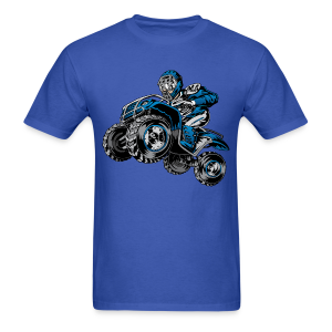 ATV quad rider blue - Men's T-Shirt