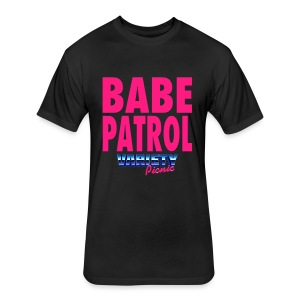 Babe Patrol Fitted T-Shirt - Fitted Cotton/Poly T-Shirt by Next Level