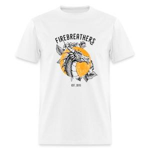 MEN'S WHITE Ben Mckee 2017 Firebreathers Shirt - Men's T-Shirt
