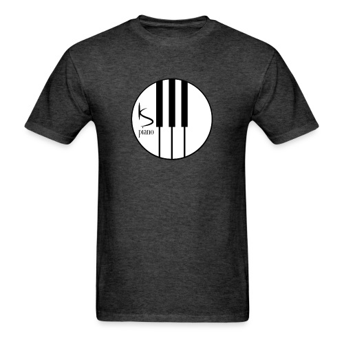 Kenzie Smith Piano (Center Logo) Men's - Men's T-Shirt