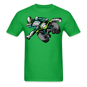 freestyle ATV quad rider green - Men's T-Shirt