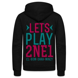 [2NE1] Let's Play 2NE1 - Unisex Fleece Zip Hoodie by American Apparel