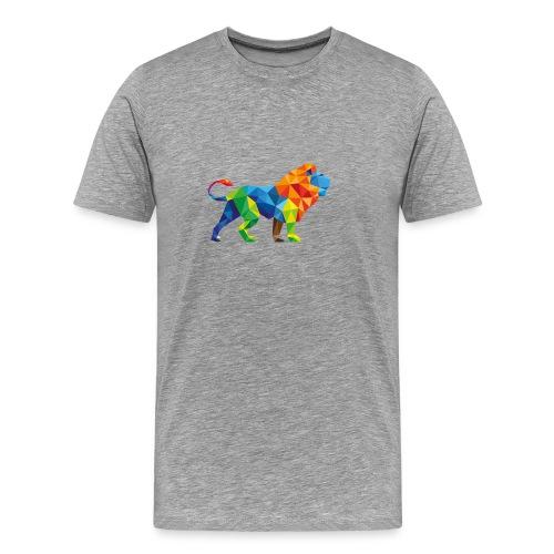 Geometric Rainbow Lion T-Shirts - Men's Premium T-Shirt