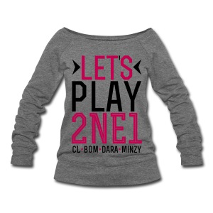 [2NE1] Let's Play 2NE1 - Women's Wideneck Sweatshirt