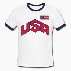 usa_olympic-sign_&_flag_3c T-Shirts