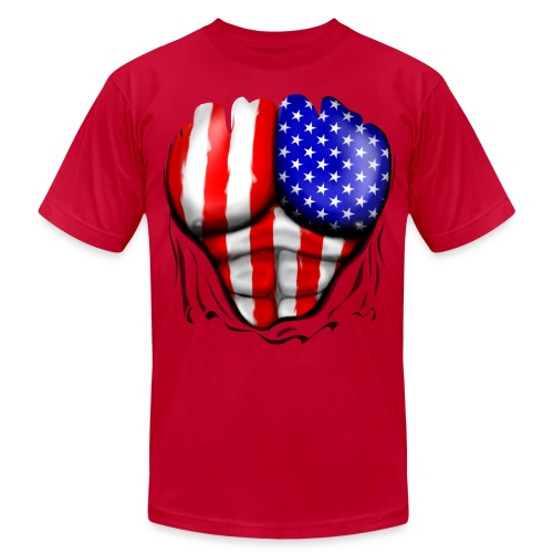 Ripped American - Men's Fine Jersey T-Shirt