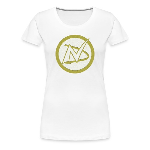 Neil Dawkins logo women's fitted tee (white) - Women's Premium T-Shirt