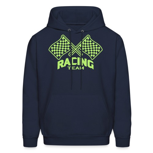 Men's Hoodie - men's checkered flag/racing team hooded sweatshirt