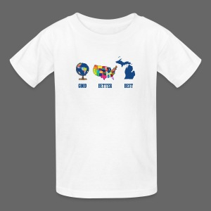 Good Better Best Michigan - Kids' T-Shirt