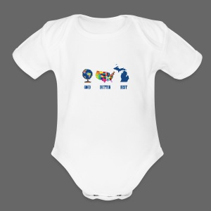Good Better Best Michigan - Short Sleeve Baby Bodysuit