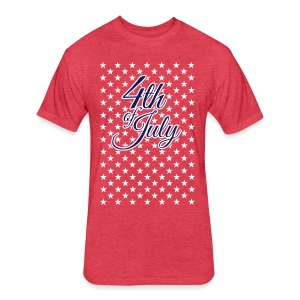 4th of July - Fitted Cotton/Poly T-Shirt by Next Level
