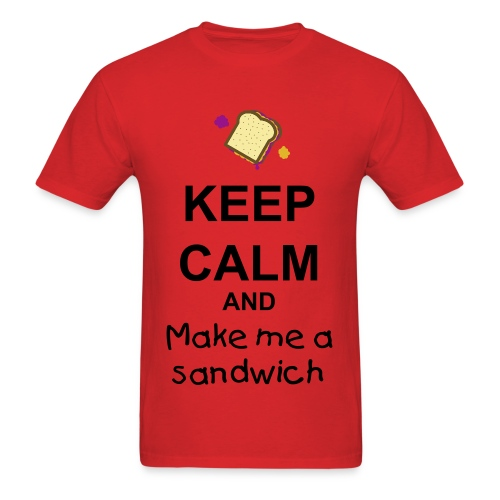 Keep calm and Make me a sandwich - Men's T-Shirt