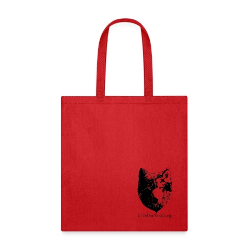 on top wolf tote - Tote Bag