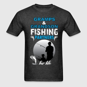 Gramps & Grandson Fishing Partners For Life T-Shirts - Men's T-Shirt