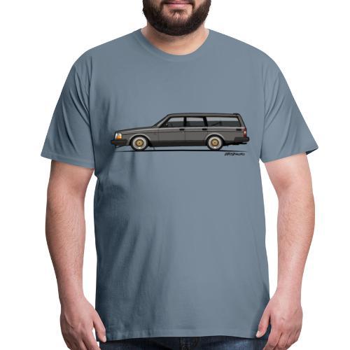 Brick –  245 240 Series Wagon Gray - Men's Premium T-Shirt