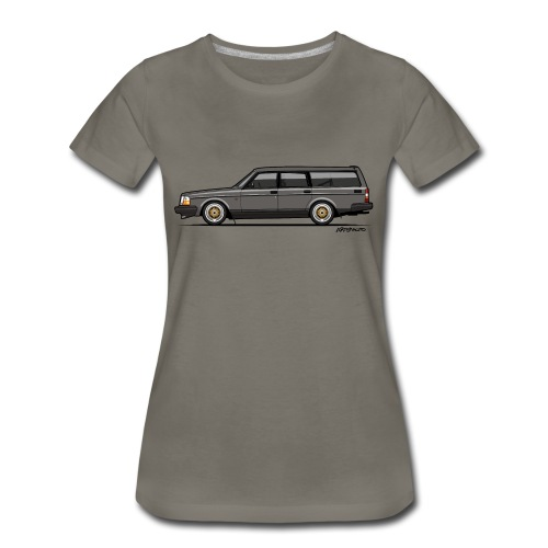 Brick –  245 240 Series Wagon Gray - Women's Premium T-Shirt