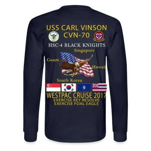 USS CARL VINSON CVN-70 w/ HSC-4 WESTPAC 2017 CRUISE SHIRT - LONG SLEEVE - Men's Long Sleeve T-Shirt