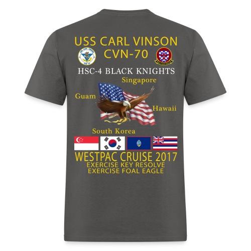 USS CARL VINSON CVN-70 w/ HSC-4 WESTPAC 2017 CRUISE SHIRT - Men's T-Shirt