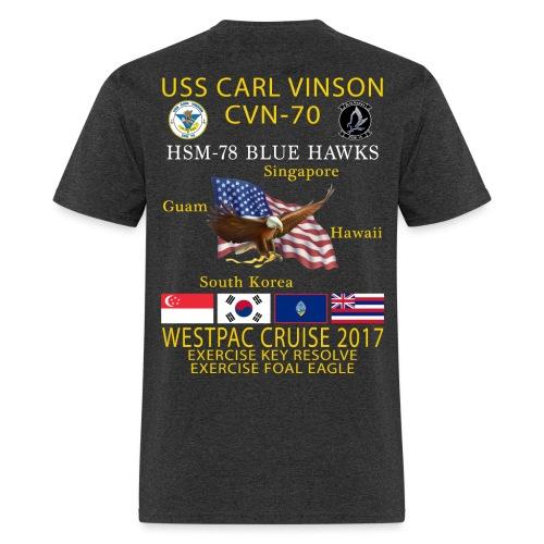USS CARL VINSON CVN-70 w/ HSM-78 WESTPAC 2017 CRUISE SHIRT - Men's T-Shirt
