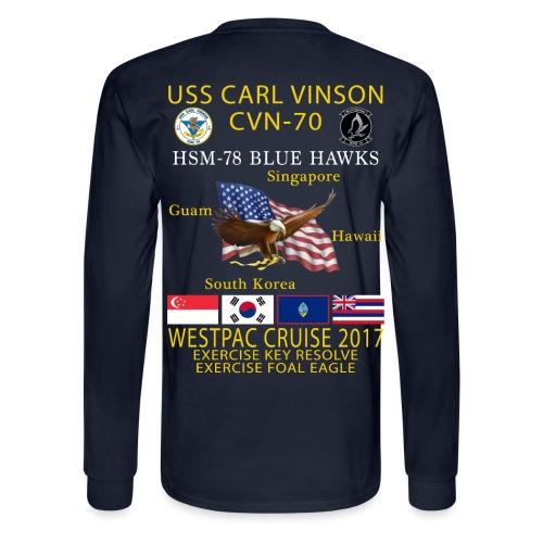 USS CARL VINSON CVN-70 w/ HSM-78 WESTPAC 2017 CRUISE SHIRT - LONG SLEEVE - Men's Long Sleeve T-Shirt