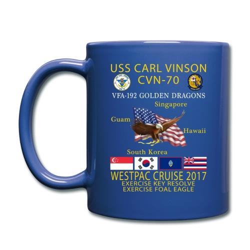 USS CARL VINSON CVN-70 w/ VFA-192 WESTPAC CRUISE 2017 MUG - Full Color Mug