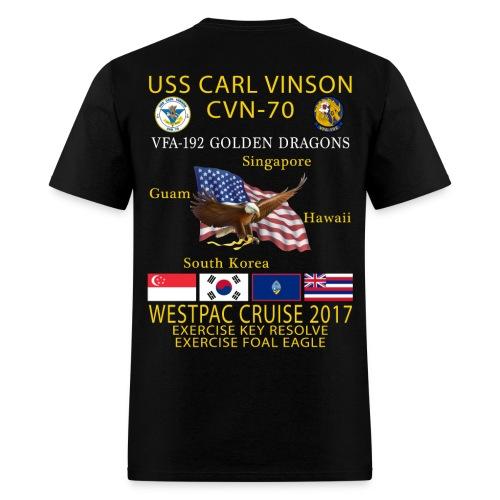 USS CARL VINSON CVN-70 w/ VFA-192  WESTPAC 2017 CRUISE SHIRT - Men's T-Shirt