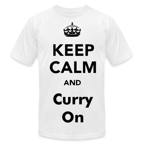 Keep Calm and Curry ON - Men's Fine Jersey T-Shirt