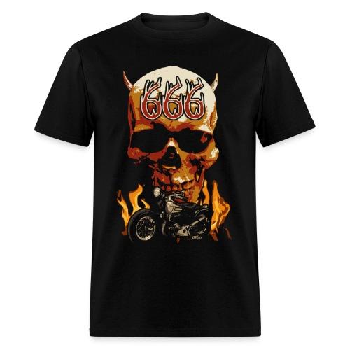 Skull 666 - Men's T-Shirt