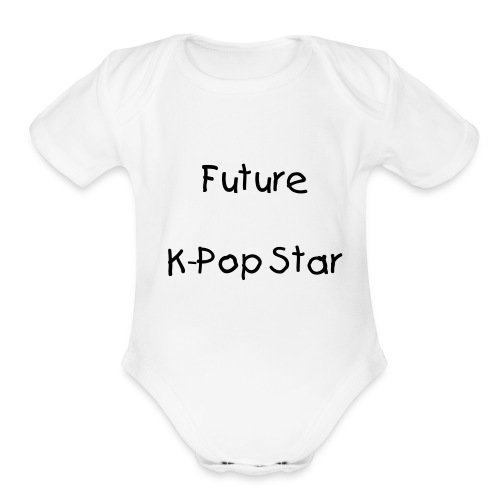 Future Kpop star (white) - Organic Short Sleeve Baby Bodysuit