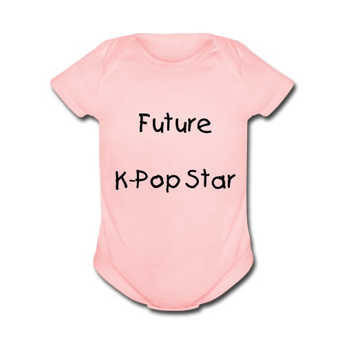 Future kpop star (pink) - Organic Short Sleeve Baby Bodysuit