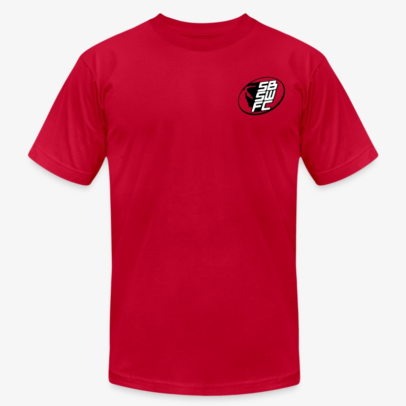 Men's Red Dual SBSWFC Logo American Apparel Tee - Men's T-Shirt by American Apparel
