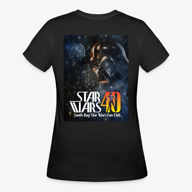 Women's Black Dual SBSWFC Star Wars 40th Anniversary Jerzees Tee