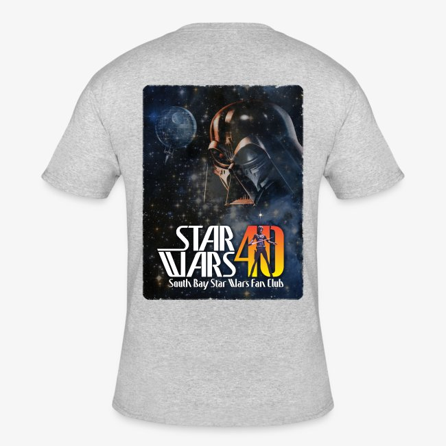 Men's Ash Dual SBSWFC Star Wars 40th Anniversary Jerzees Tee