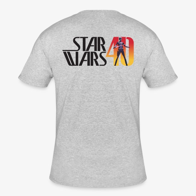 Men's Ash Dual SBSWFC Star Wars 40th Anniversary Jerzees Tee [Alternate]
