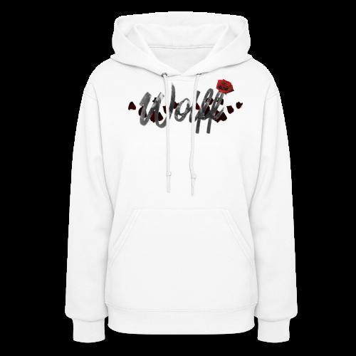 WOLFF ROSE WOMENS HOODIE - Women's Hoodie