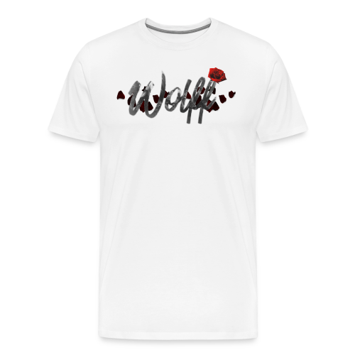 WOLFF ROSE MENS T SHIRT - Men's Premium T-Shirt