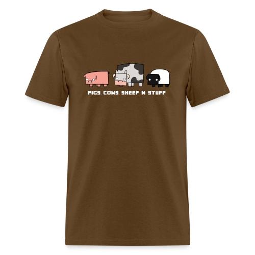 Men's Pigs, Cows, Sheep 'n' Stuff T-Shirt - Men's T-Shirt